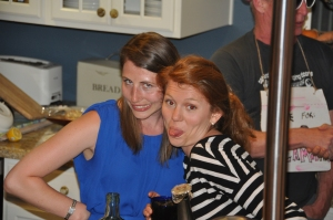 Cretia and friend Emma were a big help in prepping and great bartenders!