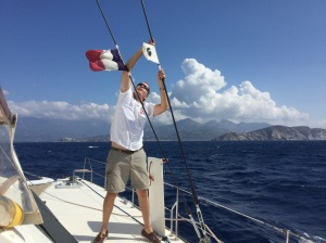 Platt Hoisting the Corsican flag